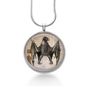 Halloween bat jewellery, Goth Jewellery, Charm Necklace, steampunk