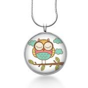 OWL Pendant Owl Necklace Colourful Owl Jewellery