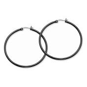 Stainless Steel Black IP plated 48mm Hoop Earrings