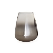 Torre & Tagus 901625 Smoke Mirror Cone Vase/Candle Holder, Short