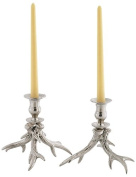 Go Home Pair of Western Candleholders