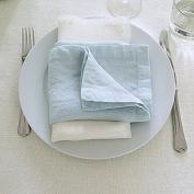 LinenMe X4 Stone Washed Napkins, 50cm x 50cm , Ice Blue