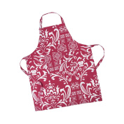 LinenTablecloth Burgundy and White Vintage Royalty Chef Apron