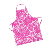 LinenTablecloth Fuchsia and White Vintage Royalty Chef Apron