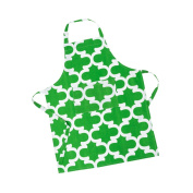LinenTablecloth Green and White Trellis Chef Apron