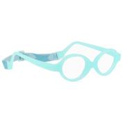 Miraflex Baby Zero2 Infant Eye Glass Frames | 34/15 Clear Blue | Age:8-24 Mo.