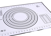 Baking Mat, Kootips Premium Non-slip Silicone Pastry Mat Extra Large with Measurements 70cm By 50cm for Silicone Baking Mat Counter Mat Dough Rolling Mat Oven Liner Pie Crust Mat