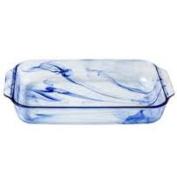 Pyrex Watercolour Collection Blue Lagoon 2.8l Oblong Baking Dish
