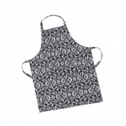 LinenTablecloth Black with White Floral Damask Chef Apron