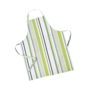 LinenTablecloth Green Barcode-Striped Chef Apron