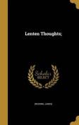 Lenten Thoughts;