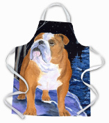 Caroline's Treasures SS8405APRON Starry Night English Bulldog Apron, Large, Multicolor