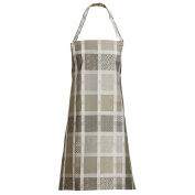 Garnier Thiebaut Coated Apron Mille Ladies Argile, 100% two-ply twisted cotton, Coated with three layers of acrylic, Made in France