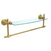 Allied Brass RW-33TB/18-PB 46cm Glass Shelf with Towel Bar, Polished Brass