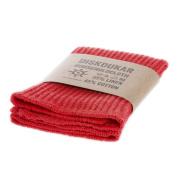 Iris Hantverk Knitted Linen and Cotton Dish Cloth, Red