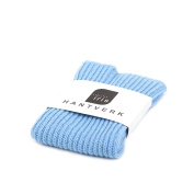 Iris Hantverk Knitted Linen and Cotton Dish Cloth, Light Blue