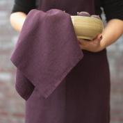 LinenMe Lara Tea Towels, 43cm by 70cm , Aubergine, Set of 2
