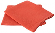 LinenMe Lara X2 Tea Towels, 43cm by 70cm , Orange