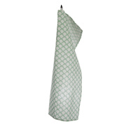 Iris Hantverk Traditional Sara's Roof Pattern 100-Percent Linen Kitchen Towel, Frosty Green