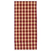 Home Collection by Raghu Heritage House Cheque Barn Red and Nutmeg Towel, 46cm by 70cm Set of 6