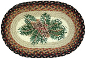 Earth Rugs 48-083 Pinecone Oval Placemat, 33cm by 48cm