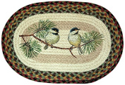 Earth Rugs 48-081 Chickadee Oval Placemat, 33cm by 48cm