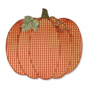 Pillow Perfect Pumpkin Sequin Placemat (Set of 2), Orange