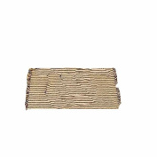 Home Collection by Raghu York Ticking Black and Nutmeg Placemat, 36cm by 46cm Set of 6