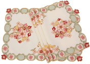 Manor Luxe ML16132 Primrose Embroidered Cutwork Placemats, 36cm by 50cm , Set of 4