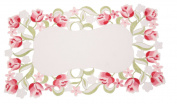 Manor Luxe ML16130 Lush Rosette Embroidered Cutwork Placemats, 36cm by 50cm , Set of 4