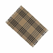 Home collection by Raghu Chesterfield Cheque Placemat, 36cm by 46cm , Oat Black Set of 6