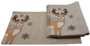Manor Luxe Cosy Reindeer Christmas Placemats (Set of 4), 33cm x 46cm