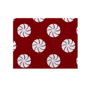 E By Design PT4HGN280R1 Whirl of The Season Holiday Geometric Print Placement, 46cm by 36cm , Red
