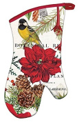 Michel Design Works AOM276 Merry and Bright Padded Cotton Oven Mitt, Multicolor