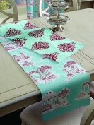 Split P Balcrest Toile Medallion Table Runner, Multicolor