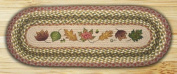 Earth Rugs 68-024 Oval Table Runner, 33cm by 90cm , Autumn Leaves