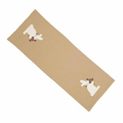 Home Collection by Raghu Nutmeg 36cm x 90cm Bunny Bouquet Table Runner