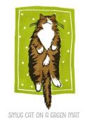 Smug Cat on a Green Mat - Jo Cox Poster