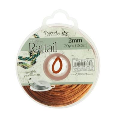 20-Yard Nylon Rattail Cord, 1.5mm, Copper