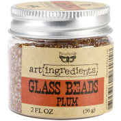 Creative Converting Finnabair Art Ingredients Glass Beads, 60ml, Plum