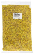 John Bead Outlet No.3 Vintage Bugle Bead Bag, 0.5kg, Yellow Silver Lined