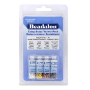 Beadalon Crimp Bead Variety Pack #1 Nickel Free Silver, Gold, Copper, Gunmetal 600 Piece