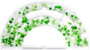 Cousin 13295 Glass Mix Bead Assortment, Green