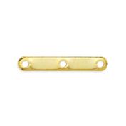Beadalon 144-Piece 3-Hole Spacer Bar, Gold Plate