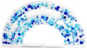 Cousin 13294 Glass Bead Assortment, Cool Blue