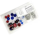 Linpeng HK-09 Hand Painted Beads USA Patriotic Jewellery DIY Kit