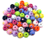 Linpeng CPBE-022 Hand Painted Plastic Beads