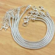 Beading Station 5-Piece BSI Snake Chain Fits Pandora Chamilia Troll Biagi Beads, 20cm