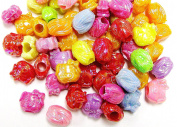 Linpeng 100521-1_2-MIX Big Hole Plastic Beads, 0.2kg.
