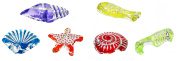 Linpeng Plastic Sea Creatures and Shells Beads, 13mm/0.2kg, Assorted